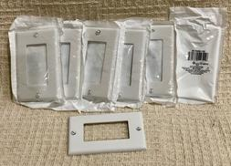 Leviton 021-80401-W Electrical White Decora Wall Plate, Lot