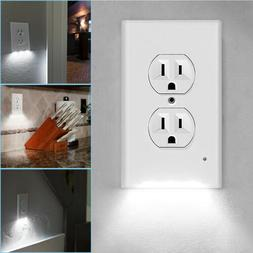 1/2/4X Outlet Wall Plate Socket US Plugs Cover & LED Porch N