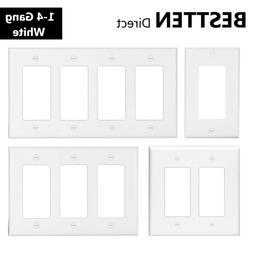 BESTTEN 1-4 Gang Decor Wall Plate Outlet Cover GFCI Dimmer/L