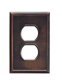 Hampton Bay 1 Duplex Outlet Wall Plate - Oil Rubbed Bronze S