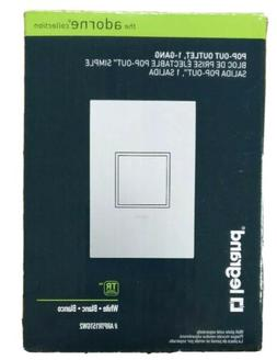 1 Gang 15A 3 Outlet Wall Pop-Out Outlet and Matching Gloss W