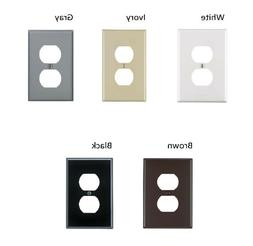 Leviton 1 Gang Midway Duplex Outlet Nylon Wall Plate