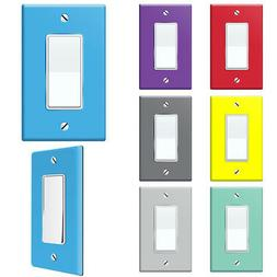 1-Gang Single Decorator Rocker Light Switch Wall Plate Decor