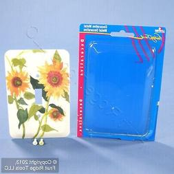 Leviton 1-Gang Sunflowers Wall Plate Switch Metal Cover Swit
