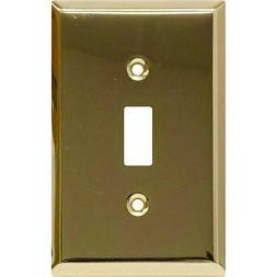 GE 1 TOGGLE SWITCH WALL PLATE #52104 PLATED STEEL