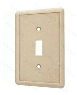 Hampton Bay 1-Toggle Wall Plate Travertine High-Quality Cast