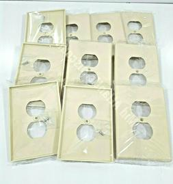 10 Jumbo Oversize 1 Single Gang Receptacle Wall Plate Outlet