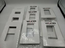 10 Pack ENERLITES Screwless Decorator Wall Plates