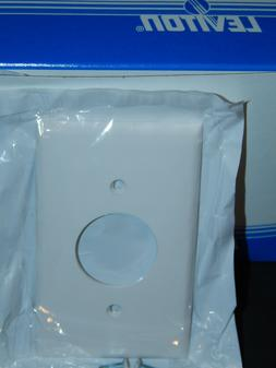 10 Leviton White Circle Single Hole Nylon Electrical Wall Pl