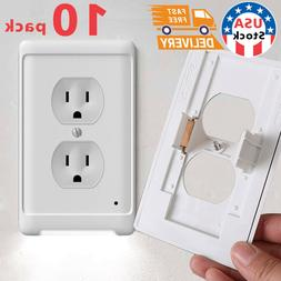 10Duplex Wall Outlet Cover wall plate with led night lights