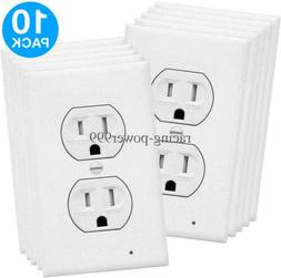 10pcs wall duplex outlet cover plate led