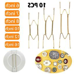 10Pcs Wall Plate Spring Hook Hanger Holder Hanging Wire Home