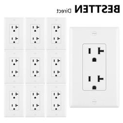 10pk 20a amp decor receptacle electrical wall