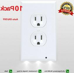 10x outlet wall plate led night lights