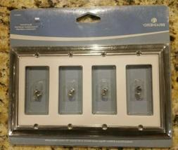 BRAINERD #126313 QUAD DECORATOR SWITCH WHITE W/CHROME METAL