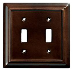 Brainerd 126343 Wood Architectural Double Toggle Switch Wall