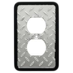 Brainerd 126367 Diamond Plate Chrome & Black Single Duplex C