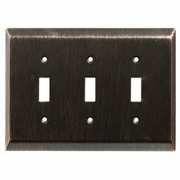 Franklin Brass 126410 Stately Triple Toggle Switch Wall Plat