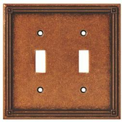135765 Ruston Double Toggle Switch Wall Plate / Cover -