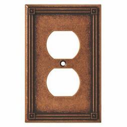 BRAINERD 135766 Ruston Single Duplex Outlet Wall Plate / Swi