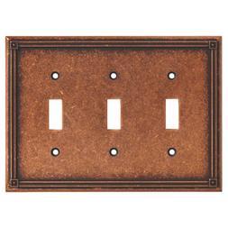 BRAINERD 135772 Ruston Triple Toggle Switch Wall Plate / Swi