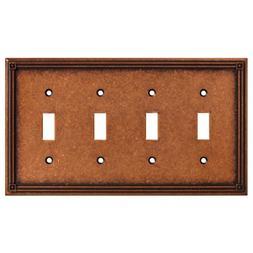 Brainerd 135773 Ruston Quad Toggle Switch Wall Plate / Switc