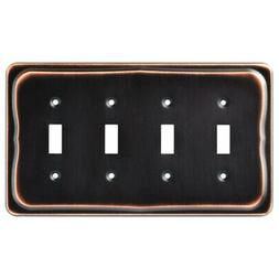 Franklin Brass 144409 Tenley Quad Toggle Switch Wall Plate /