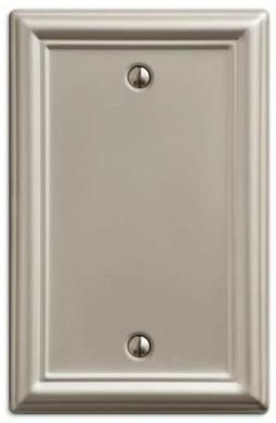 AmerTac 149BBN Chelsea Steel Blank Wallplate, Brushed Nickel