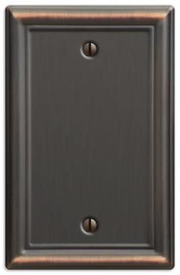 AmerTac 149BDB Chelsea Steel Blank Wallplate, Aged Bronze