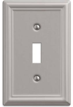 Amerelle 149TBN Chelsea Steel 1 Toggle Wall Plate, Brushed N
