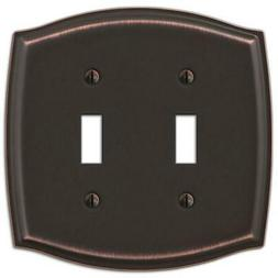 Amerelle 159TTDB Sonoma 2 Toggle Wall Plate, Aged Bronze