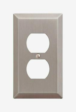 Amerelle 163DBN 1 Duplex Wall Plate, Brushed Nickel