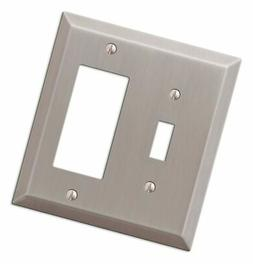 Amerelle 163TRBN Century Steel Toggle 1 Rocker Wallplate, Br