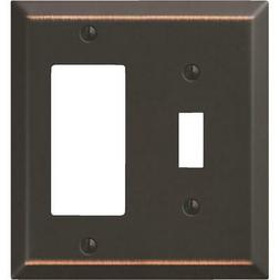 Amerelle 163TRDB Traditional Steel Wallplate with 1 Toggle/1