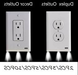 2/3//5/10x Duplex Decor Electrical Outlet Wall Plate With Se