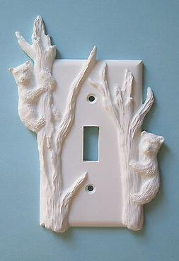 2 Bear cub light switch plate wall cover toggle outlet switc