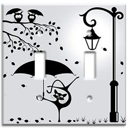 Art Plates Brand Double Gang Toggle Switch/Wall Plate - Cat