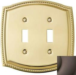 Baldwin 2-Gang Toggle Switch Wall Plate