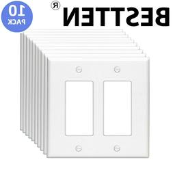 2-Gang Wall Plate Decorator Switch GFCI Rocker Outlet Cover
