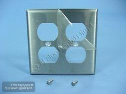 Leviton 84016-40 2-Gang, Duplex Device Receptacle Wallplate,