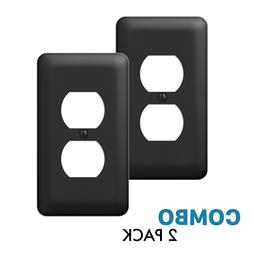 2 pack duplex outlet wall plate decorative