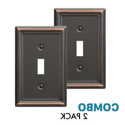 2-Pack Toggle Wall Plate Light Switch Wallplate, Oil Rubbed