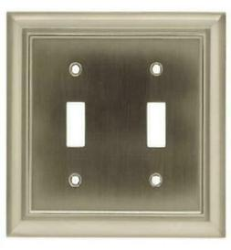 2 PK Brainerd Satin Nickel Architectural 2 Gang Toggle Wall