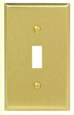 2-PK Single Gang Light Switch WALL PLATE Cover NEW SATIN BRA