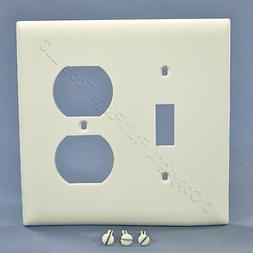 2-Gang White Switch/Duplex Pass and Seymour Standard Recepta