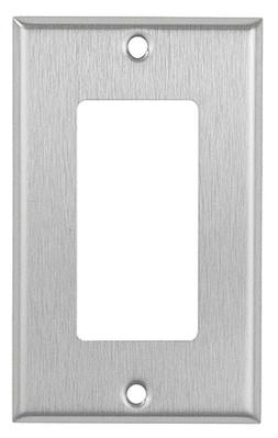 Decorator 1-Gang Stainless Steel Wall Plate Metal Receptacl