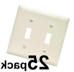 ~ Brainerd Rounded 2-Gang Double-Toggle Switch Wall Plates ""