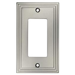 Cosmas 25000-SN Satin Nickel Single GFI/Decora Rocker Wall S