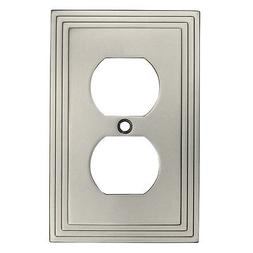 Cosmas 25026-SN Satin Nickel Single Duplex Electrical Outlet