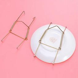 2x Heavy Duty Wall Plate Hooks Hangers w/ Flexible Spring f/
